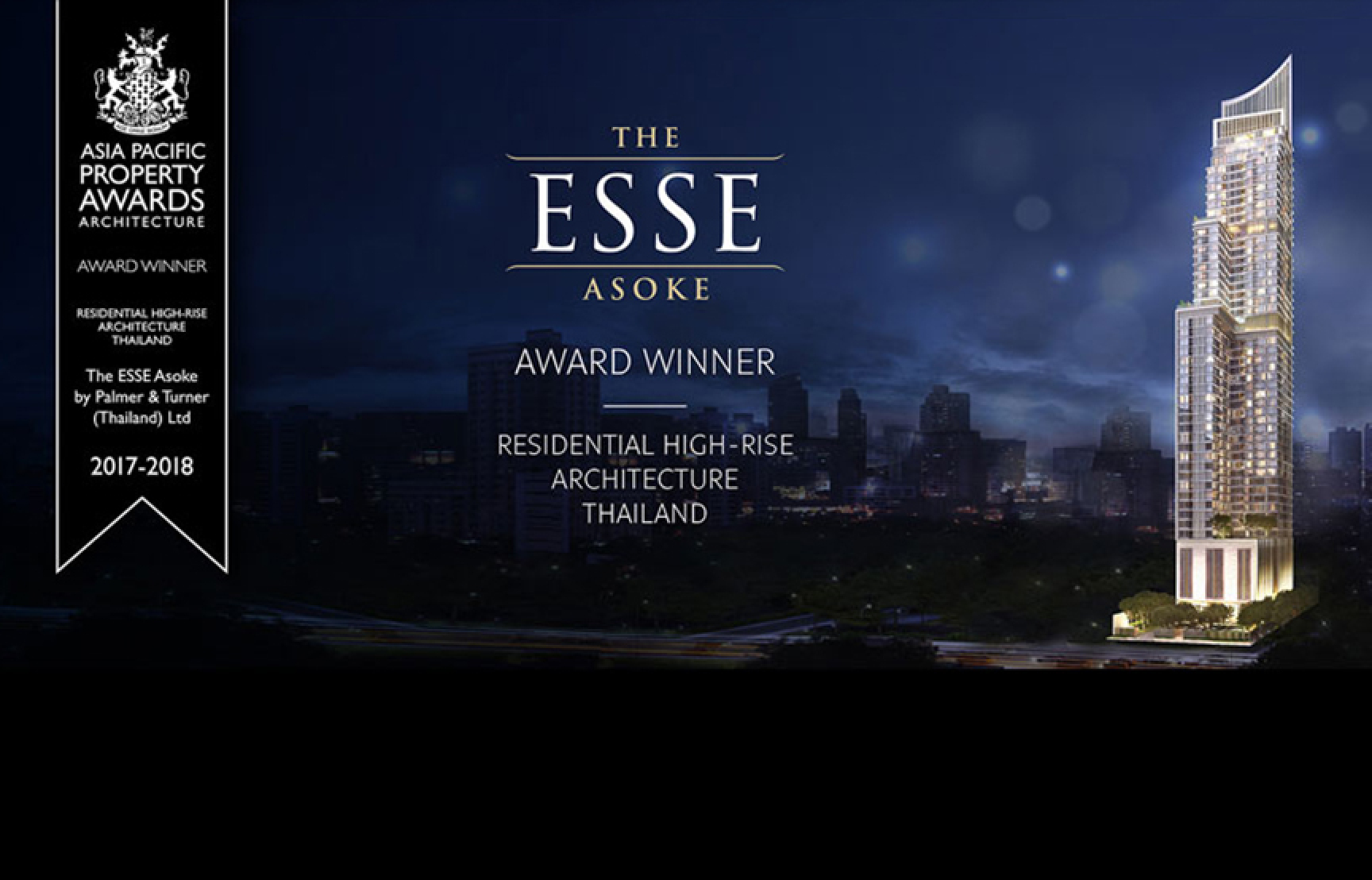 THE ESSE ASOKE WINS ASIA PACIFIC PROPERTY AWARDS