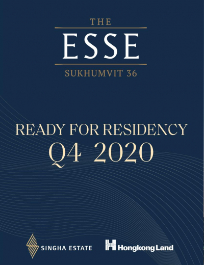 The ESSE Sukhumvit 36, a joint venture partnership between Singha Estate and Hong Kong Land are ready to unveil a completed building of an ultimate luxury condominium located next to BTS Thonglor in Q4 this year, worth over 6.5 billion baht