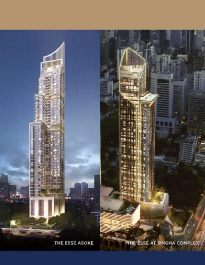 "Singha Estate unveils its ""Guarantee Yield 7%*2 Years"" campaign, creating sustainable value and steady return for fully-completed The ESSE Asoke and The ESSE at SINGHA COMPLEX"